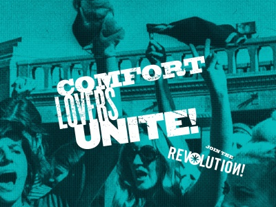 Revolution poster protest comfort shoes