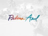 Palma Azul calligraphy