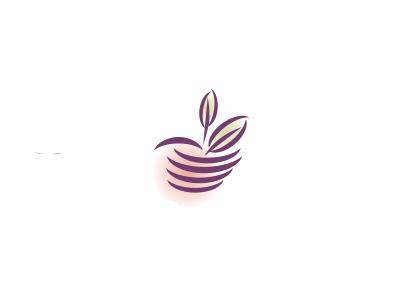 Spa of Eden logo gradient apple leaf hand