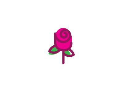 fig. flower icon lines swirl flower