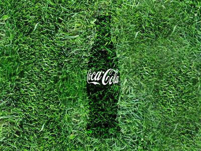 Coke Summer image summer coca-cola bottle grass
