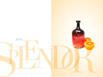 Solerno Ripe Splendor typography liqueur blood orange