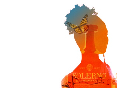 Solerno montage gradient silhouette liqueur butterfly montage