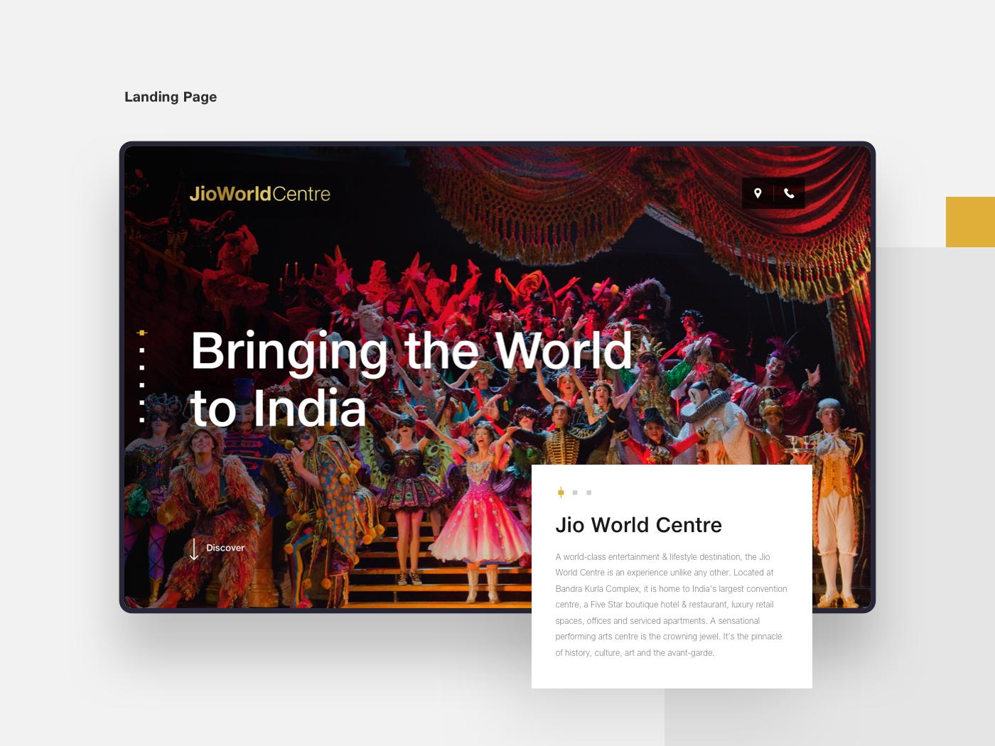 JioWorldCentre india moonraft bangalore responsive mobile ui ux webdesign