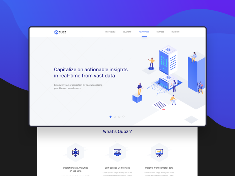 QUBZ Website real time data mobile website india moonraft branding ui ux webdesign