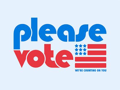 please vote vote illustration flat typography