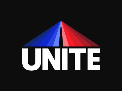 Unite flat logo illustration design typography branding