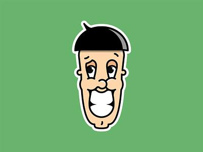 My inner goofball face vector design mascot illustration