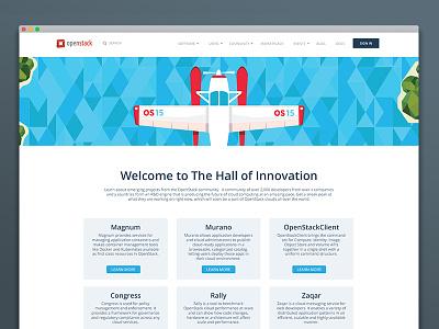 Hall Of Innovation landing page responsive design ux ui landing page