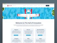 Hall Of Innovation landing page