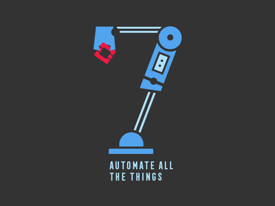 """7"" robot arm automate arm robot 7 illustration"