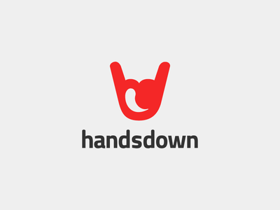 Hands Down identity branding hand design logotype logo