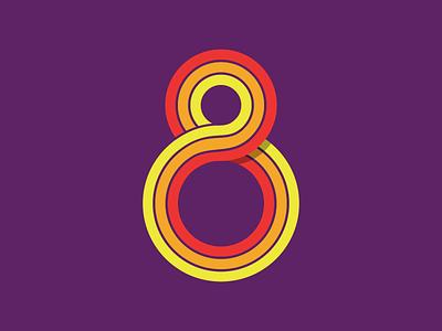 8 eight 8 number retro typography type