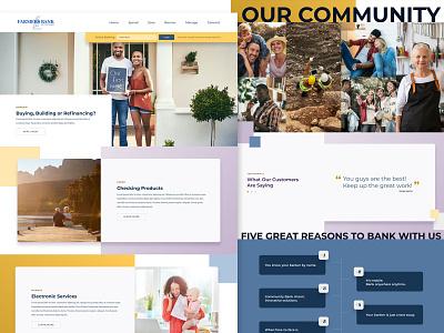 Homepage Design mockup web landing page design website web design