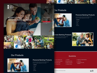 Home Page mockup web landing page design website web design