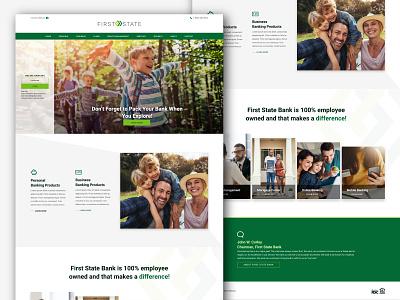 Green and green mockup web landing page design website web design