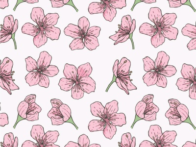 Blossom - repeat pattern pink flower vector surface pattern pattern design repeat pattern