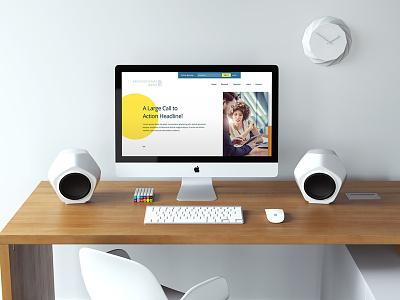 Mockup landing page web design web mockup website