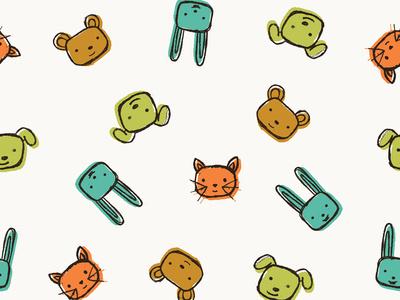 Patterned Fabric Print design pattern fabric animals illustration
