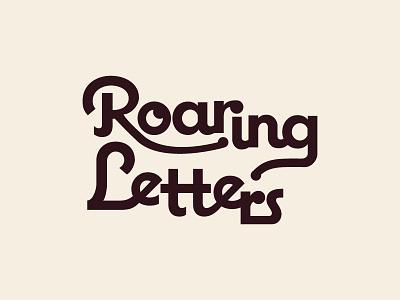 Roaring Letters Logo logotype logo design logo