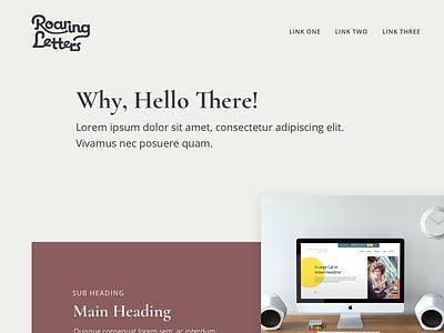Roaring Letters Mockup design web website web design landing page