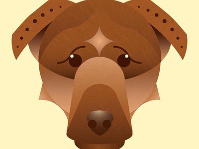 Lady Willow dog geometric vector art digital illustration