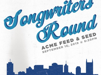 Songwriters Round Poster poster vector poster design