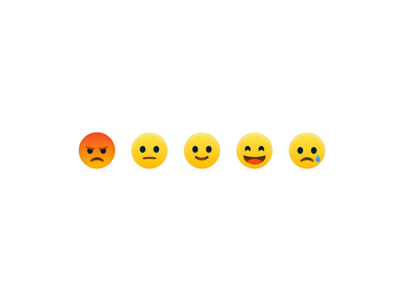 Reaction Emoji's icons icon design smiley reactions facebook emoticon icon illustration