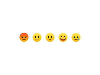 Reaction Emoji's icons icon design smiley reactions facebook emoticon icon illustration