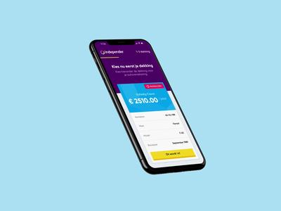 Independer — App Concept Exploration rewards ui card about mobile application settings profile dashboard pricing video motion design app concept insurance app