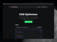 CSS Optimizer — Homepage