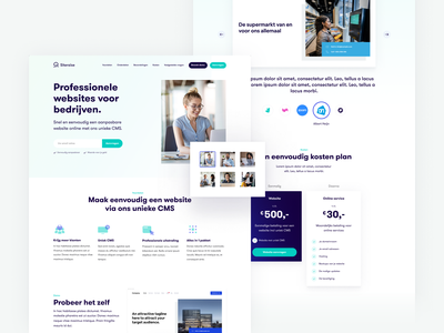 Siteraise Product Page product page one pager marketing website builder gradient editable templates pricing image slider homepage landing page