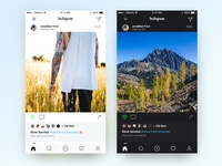 Instagram layout concept