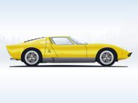 Illustration — Lamborghini Miura 1969