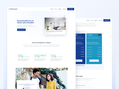 deHuyskamer — Business Page ui blue minimal clean webpage header one page landingspage website marketing