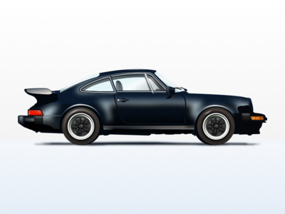 Nº4 Illustration — 1986 Porsche 911 Turbo