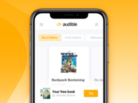 Mobile landingspage concept — Audible