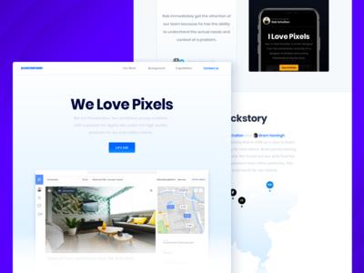 The all new Pixeldenker website 💙