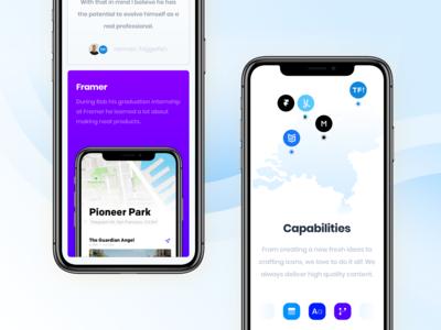 Pixeldenker — Mobile Website