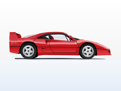 Nº5 Illustration — 1987 Ferrari F40