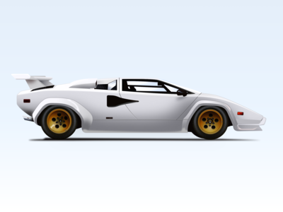 Nº6 Illustration — 1982 Lamborghini Countach LP 500S