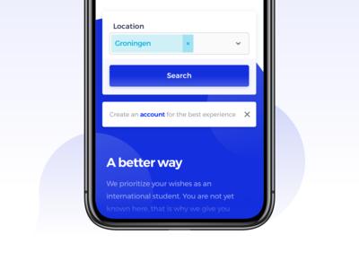 deHuyskamer — Landingpage Mobile