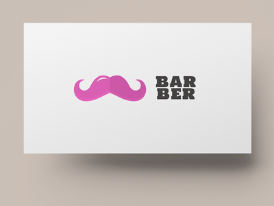 Pink Barber beard moustache conservative question deviant barbershop pink barber untipical logo defiant