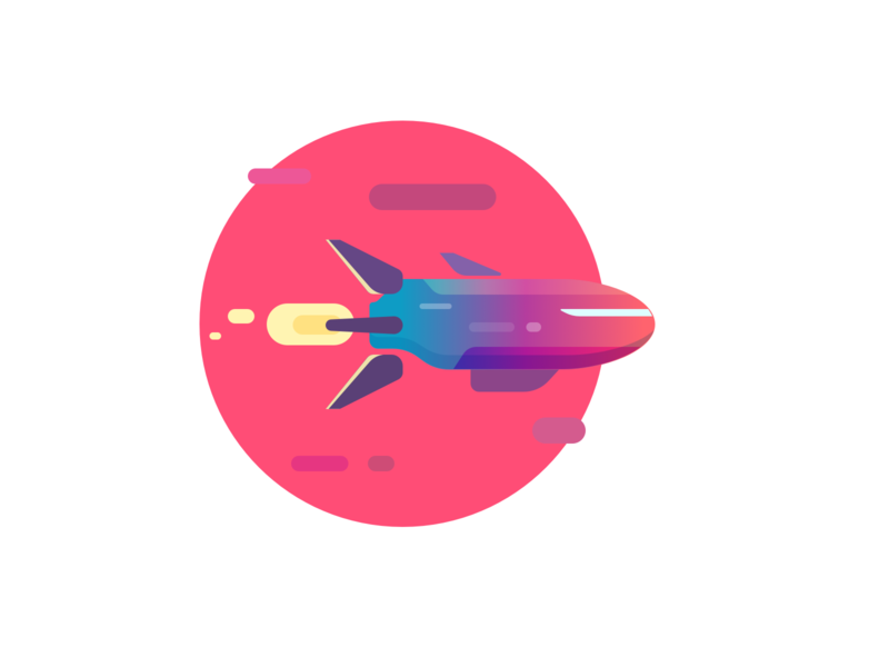 Sun Shuttle space flight purpur pink sunset shuttle rocket illustration vector illustration vector