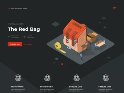 Backpack in promo site vector sewing illustration icometric design web ui bag backpack