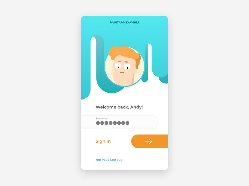 Login. Illustration & UI, day 1 mobile form web challenge mobile ui ui character illustration login form singin sign login