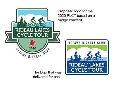 Rideau Lakes Cycle Tour 2020 Logo logo cycling cyclingevent branding