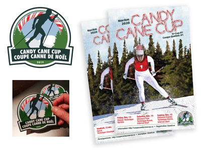 Nakkertok Nordic Candy Cane Cup Logo and Branding event design branding skiing