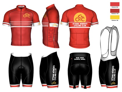 Ottawa Women's Cycling Kit Design logodesign clothing design branding clothing kitdesign cycling