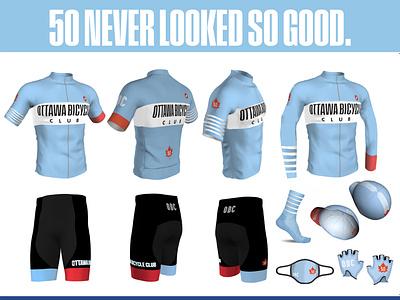 Ottawa Bicycle Club 50th Anniversary Club Kit apparel bicycling kit design cycling kit branding cycling